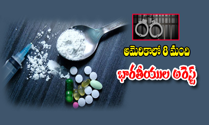 8 Indo Americans Arrested For Drugs Illegal Activity