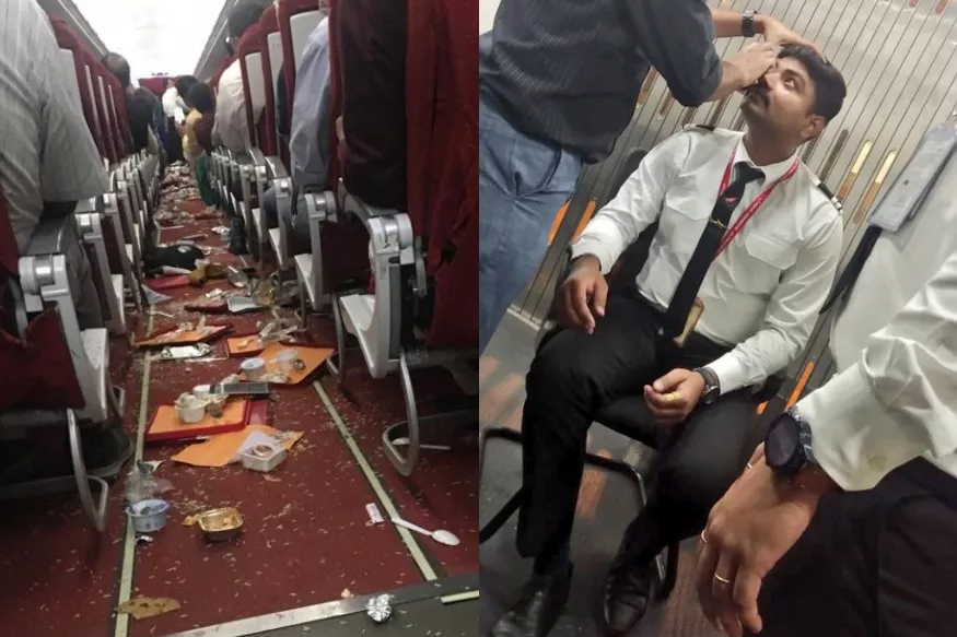 Air India Flights Suffer Damages After Severe Thunderstorms-Air Plane New Delhi To Vijayawada Thunderstorms
