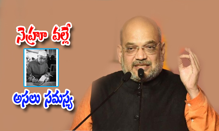 BJP Chief Amit Shah Says Jawaharlal Nehru Was The Main Reason For Creation Of Pakistan-occupied Kashmir.-Article 370 Jammu And Kashmir