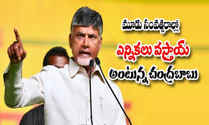 Jamili Elections Will Be Soon Says Chandrababu Naidu-Bjp And Tdp Chandrababu Comments On Narendra Modi Dream