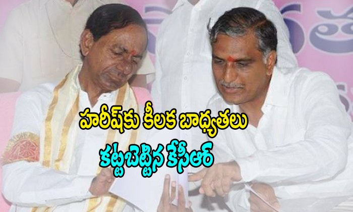 Kcr Give The Some Powers To Harish Rao
