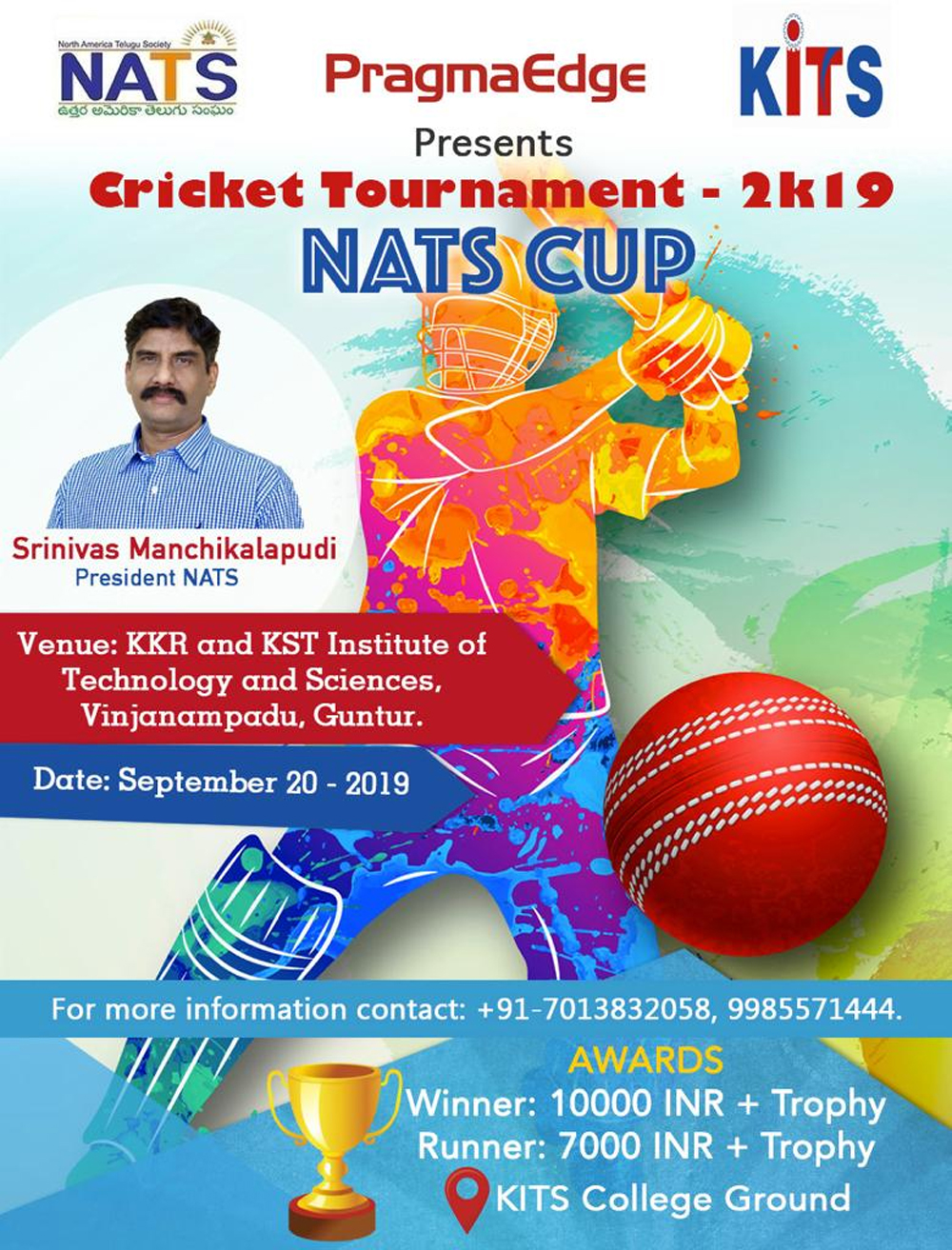 -Nats Cricket Tournament Telugu Nri News Updates