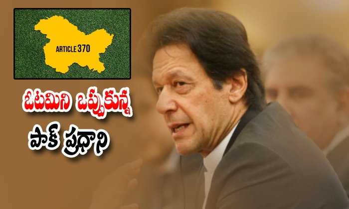 Pakistan President Imrankhan Says We Are Loosers In Article 370 Isuue-India Vs Jammu And Kashmir