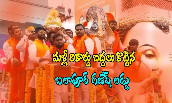 Records Create Balapure Ganesh Laddu-balapure Ganesh Laddu Telugu Viral News Records Create Balapure Ganesh Laddu-balapure Laddu-Records Create Balapure Ganesh Laddu-Balapure Laddu