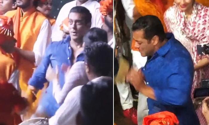Telugu Bollywood Star Hero, Salman Dance At Ganapathi, Salman Khan, -