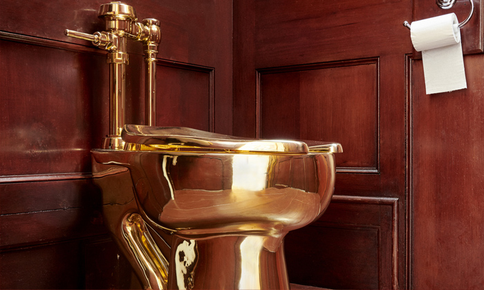 Solid Gold Toilet Stolen From Blenhim Palace-Oxfird Shire Police Complaint