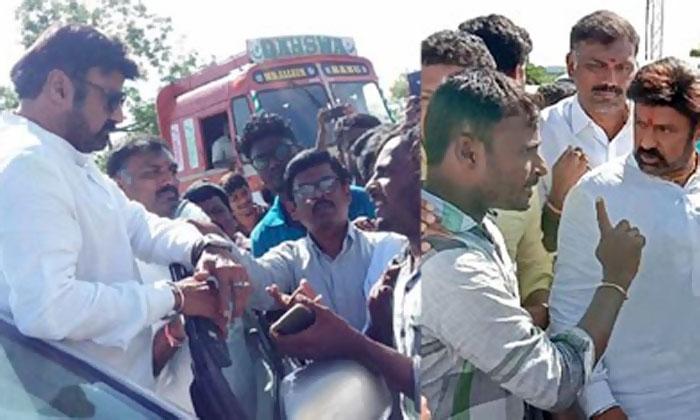 Hindupur MLA Balakrishna Stopped By Galibipalli Villagers-Galibipalli Hindupur Mla Lepakshi Villagers