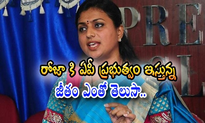 Do You Know Ycp Governament How Much Salary Give To Roja?
