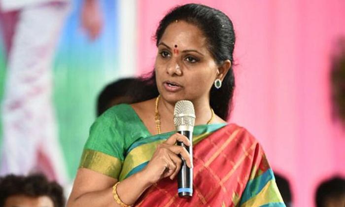 Telugu Kavitha Present In Bathukamma Festival, Kcr, Kcr Plant To Give Party Working President To Kavitha, Telangana Trs Formmer Minister Kavitha, -Telugu Political News