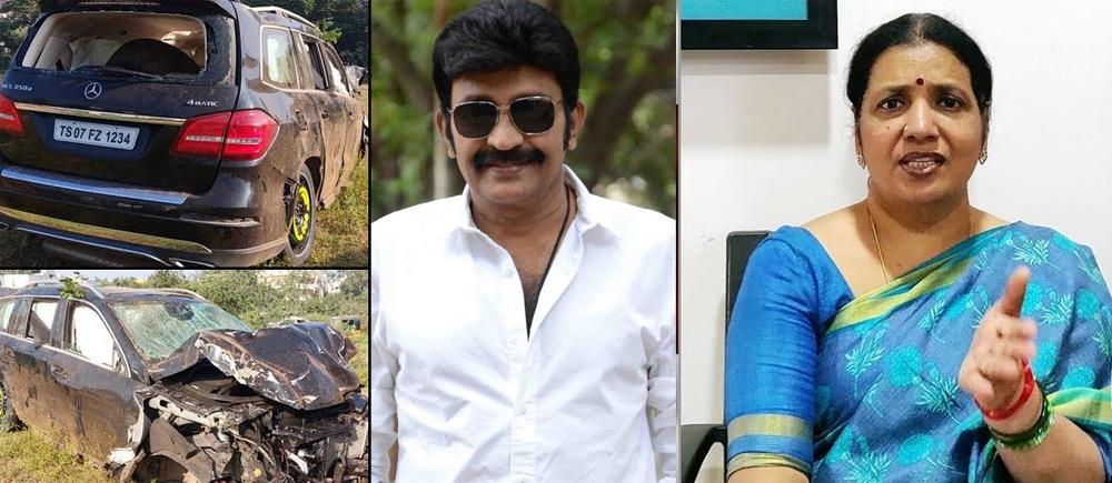 Telugu Jeevitha Raja Sekhar, Rajasekhar Car Accident, Rajasekhar Car Drive, Tollywood Box Office, Tollywood Gossips-