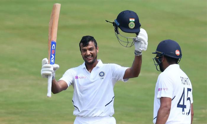 Mayank Agarwal Getting Double Tone India Get High Score