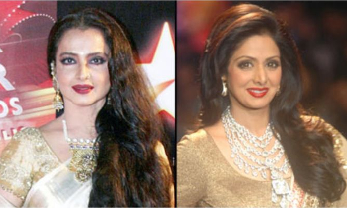 Sridevi And Rekha Take The Anr Awards In This Year