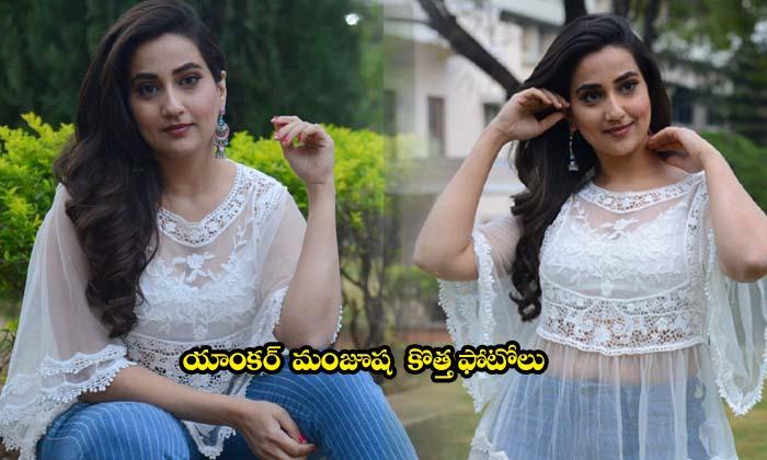 Anchor Manjusha New Images