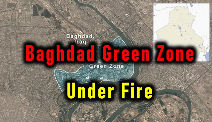 Baghdad Green Zone Under Fire!!-Iran Us War