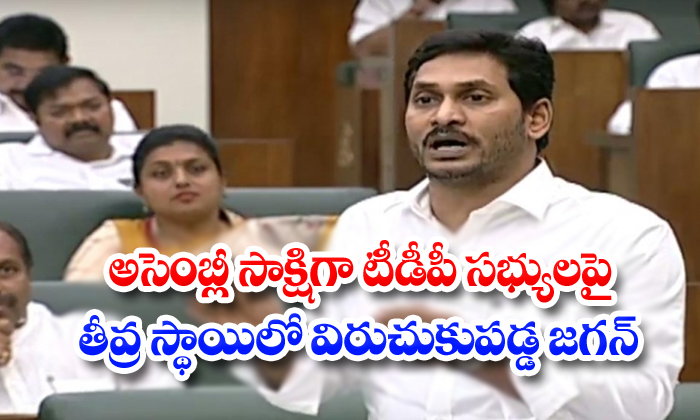 CM Jagan Serious Warning To TDP Mlas At Assembly-Ap Assembly Speaker Tammineni Sitharam Ap Cm Mohan Reddy Cm Jagan Fire On Marshals Comes In Podiyam Tdp Chief Chandrababu Naidu