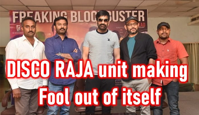 Disco Raja Team Is Busy Bluffing-Disco Success Meet