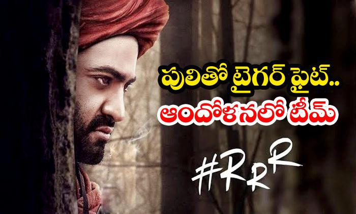 NTR Pic Leaked From RRR Shooting-Rajamouli Ram Charan Rrr Shooting Telugu Movie News