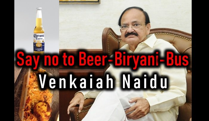 Say No To 3b: Beer Biryani Bus – Venkaiah Naidu-maharashtra Elections,venkaiah Naidu -Say No To 3B: Beer Biryani Bus – Venkaiah Naidu-Maharashtra Elections Naidu