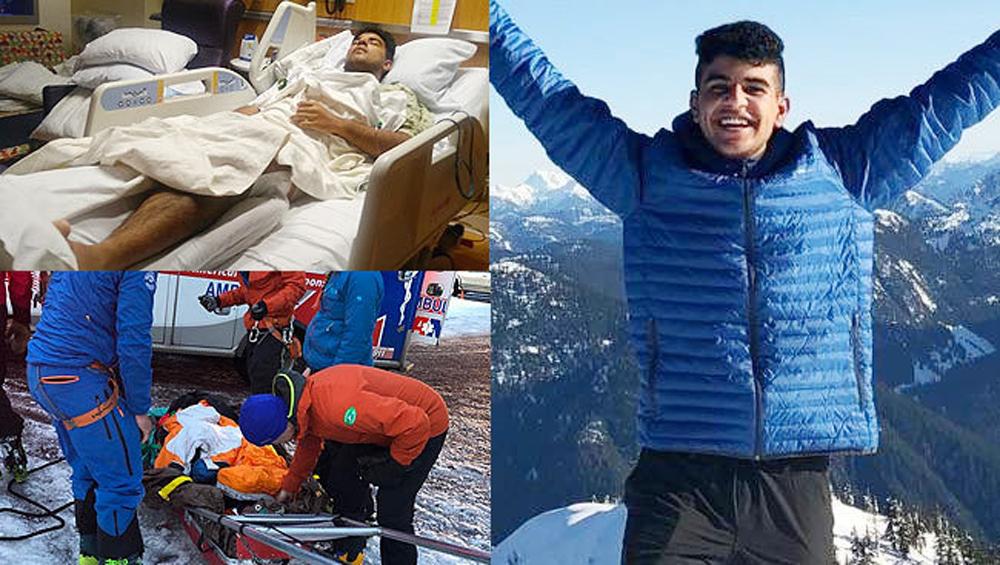 Telugu Gurbaz Singh, Mount Hood, Nri, Surrey Teenager Gurbaz Singh, Telugu Nri News Updates, పర్వతం ఎక్కుతూ జారిపడ్డ-