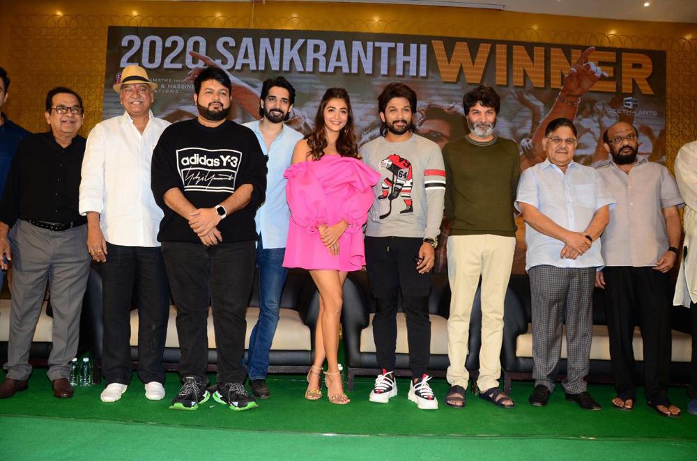Telugu Ala Vaikunta Puramlo, Ala Vaikunta Puramlo Press Meet, Ala Vaikunta Puramlo Success Meet, Allu Arjun, Pooja Hegde, Trivikram Srinias-