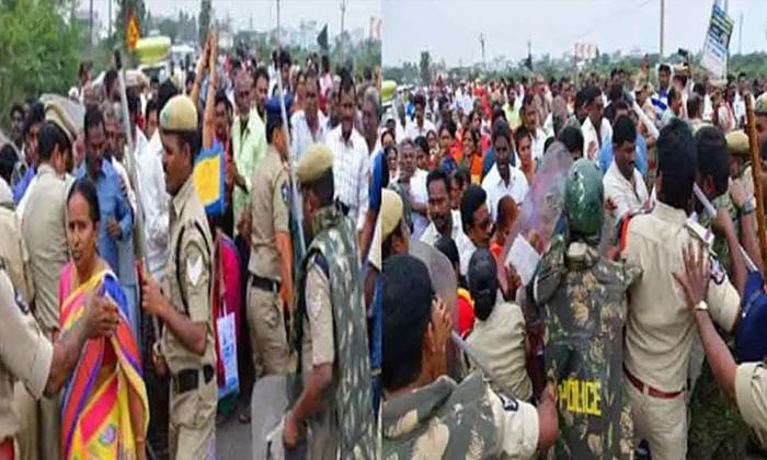 Telugu Amaravathi Farmars Strike, Amaravthi Issue, Ap Capital Amaravathi, Rk Arrest, Ycp Mla Alla Ramakrishna Reddy, -