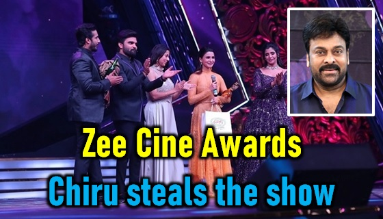 Zee Cine Awards 2020 Brings Tollywood Together! Megastar Steals The Show! - Telugu Awards Function Zee Cine Awards 2020, Chiranjeevi At Zee Cine Awards 2020, Zee Cine Awards 2020, Zee Cine Awards 2020 Photos, Zee Cine Awards 2020 Stills-Latest News-Telugu Tollywood Photo Image
