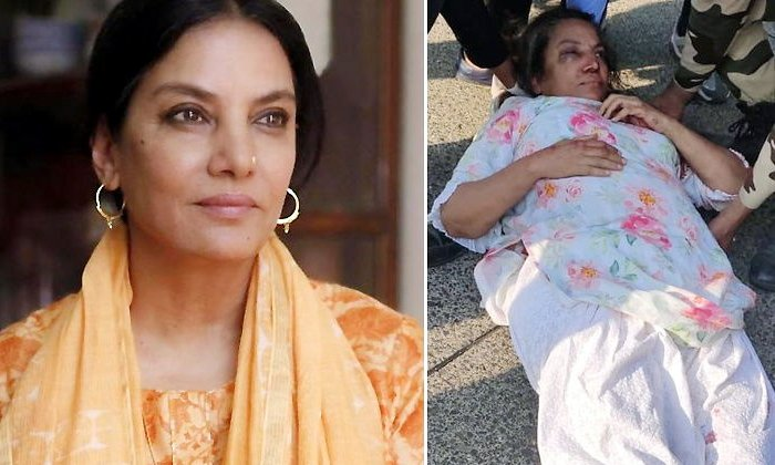 Shabana Azmi Injured In Car Accident-Car Accident National News