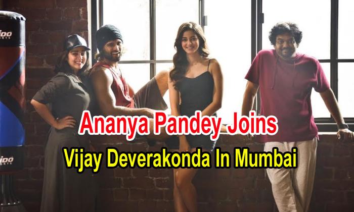 Ananya Pandey Joins Vijay Deverakonda In Mumbai