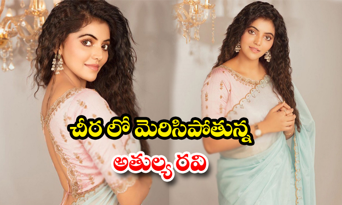 Athulya Ravi Looks stunning in Saree