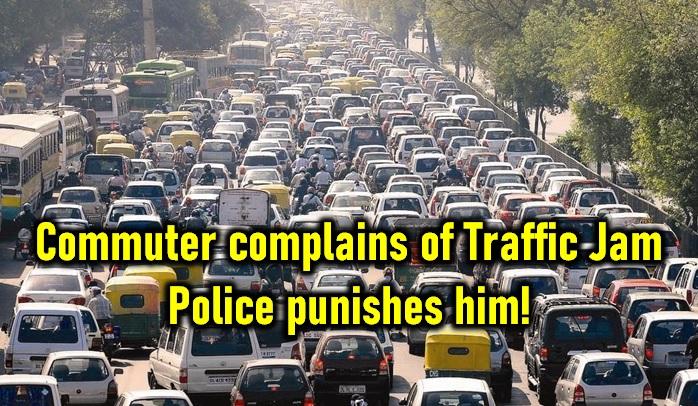 Commuter Complains Of Traffic Jam! Police Punish Him! - Telugu Ambulance Stuck In Jam Bangalore Delhi Hyderabad Worst