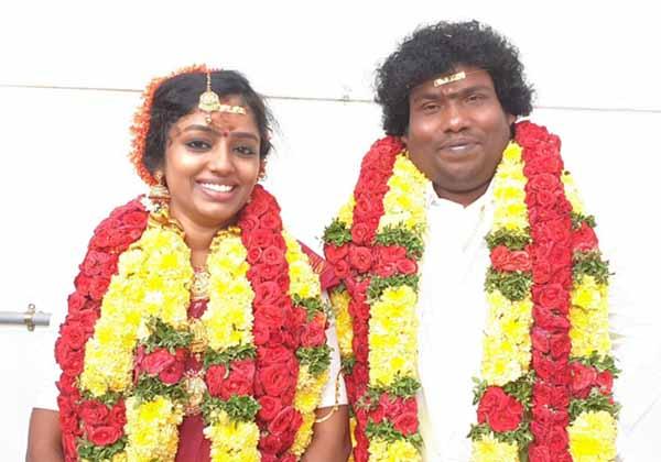 Telugu Comedian, Dhanush, Gifts, Gold Chain, Manju Bhargavi, Marriage, Yogi Babu-