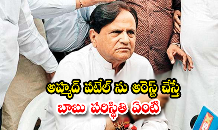 In Case Ahmed Patel In Arrested What Is The Chandrababu Sitchwation