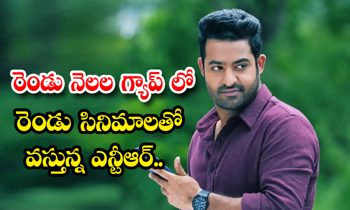 Jr Ntr Come Up With Two Projects In Months Gap - Telugu Latest Movie Update News Rrr Jr.ntr Tollywood Hero