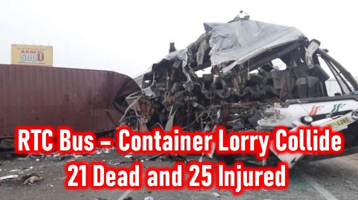 Kerala Rtc Bus And Lorry Head-on Collision Kills 21 And Injures 25 - Telugu Chennai Bus Accident, Kerala Rtc Bus Accident, Latest Bus Accident, Rtc Bus Accident-General-English-Telugu Tollywood Photo Image
