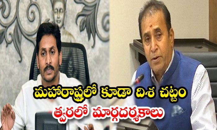 Mahastra Government Like To Implement Disha Act - Telugu Ap Cm Jagan Politics