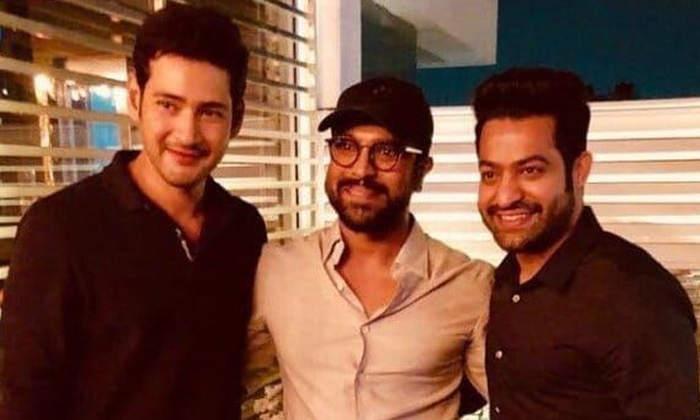 Telugu Charan And Ntr, Jolly Trip With Ntr And Mahesh Babu And Charan, Mahesh Babu, , Prince Mahesh Babu, Tollywood, Tollywood Top Heros-Movie