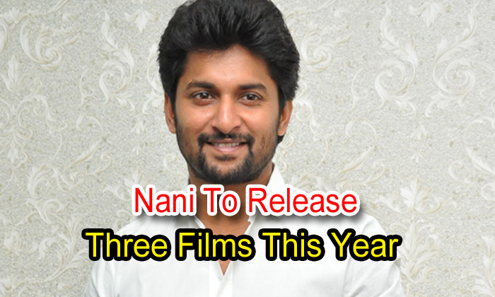 Nani To Release Three Films This Year