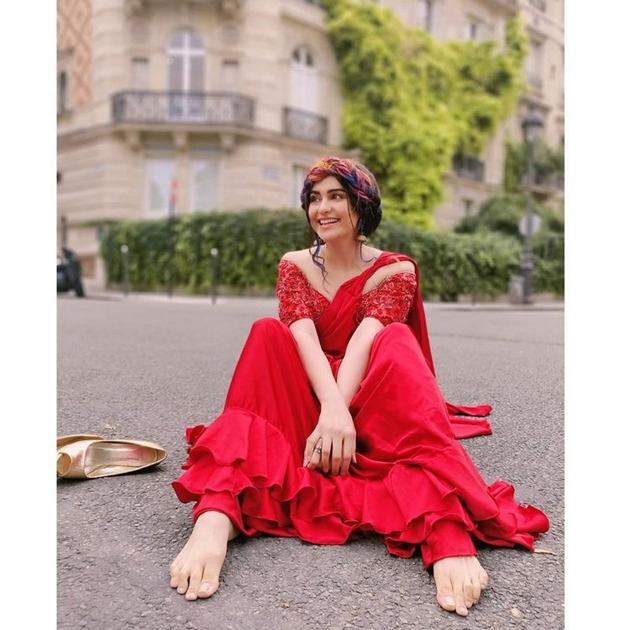 Telugu Adha Sharma, Adha Sharma In Foriegn Red Dress, Adha Sharma In Red Dress, Adha Sharma Red Dress Wiral In Social Media, Heart Attack Heroin-Movie