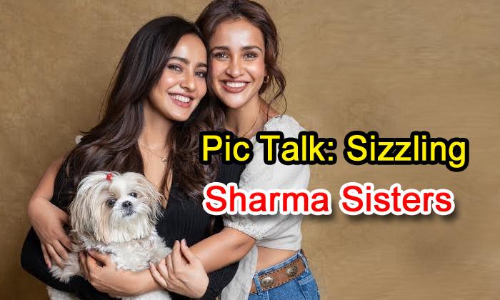 Pic Talk: Sizzling Sharma Sisters - Telugu Aisha Sharma, Chirutha Heroine, Director Puri Jagannath, Kamla Devi, Neha Sharma, Satyameva Jayate-Latest News English-Telugu Tollywood Photo Image