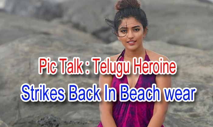 Pic Talk: Telugu Heroine Strikes Back In Beach Wear - Telugu Beach Wear, Brand Babu, Eesha Rebba, Ragala 24 Gantallo, Sparkle On, Subrahmanyapuram, Telugu Heroine-Latest News English-Telugu Tollywood Photo Image
