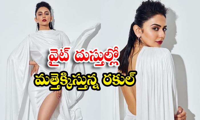 Rakul preet singh rising heat in white