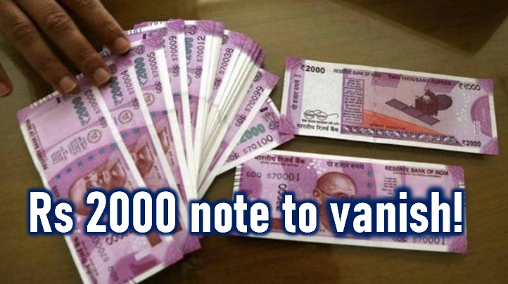 Rs 2000 Note To Vanish From Circulation!