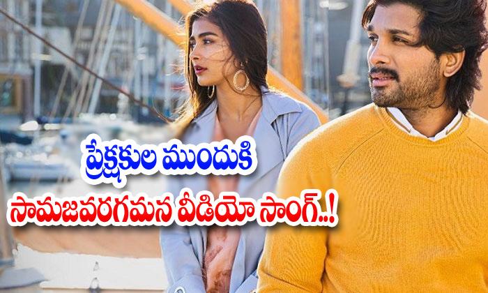 Samajavaragamana Video Release In - Telugu Ala Vaikuntapuramlo, Release In , Samajavaragamana Video , Tollywood-Movie-Telugu Tollywood Photo Image