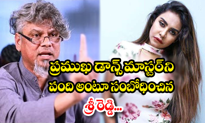 Actress Sri Reddy Doing Sensational Comments On Dance Master