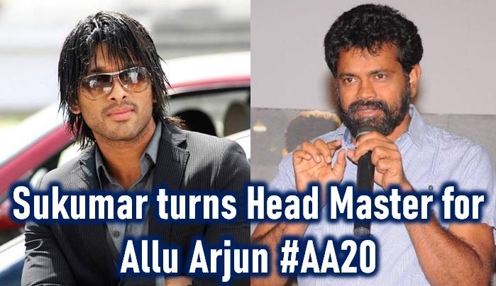 Sukumar Turns Head Master With Allu Arjun!