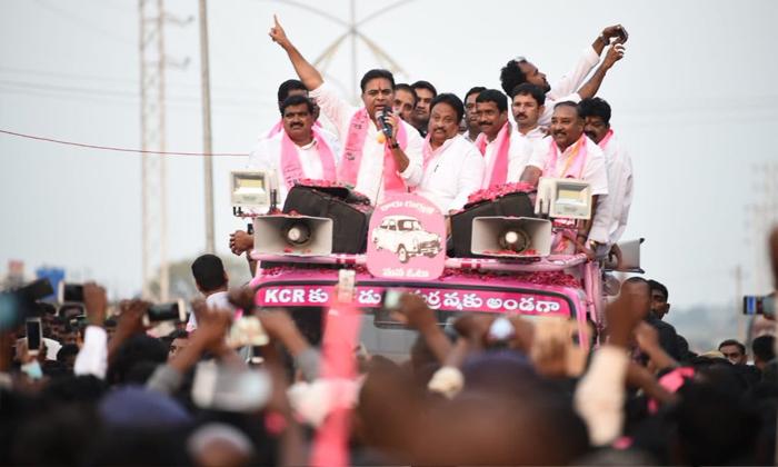 Telugu Kcr Birthday, Kcr Son Ktr, Ktr, Ktr Take The All Responsibility Of Trs Party\\'s, Telangana Muncipal Elections, -Political