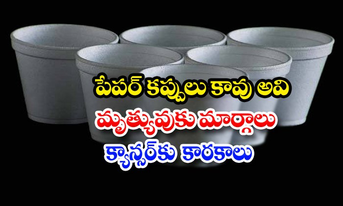 Tea In Thermocol Cups Is Injurious To Health - Telugu Paper Glasses, Platic Ban, , Tea Shopa And Hotels Using Thermocol Cups, Tea Stall, Thermocol Cups, Thermocol Cups Latest Updates, Thermocol Uses In Cancer-Breaking/Featured News Slide-Telugu Tollywood Photo Image