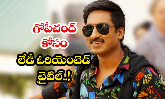 Teja Gopichand Movie Title Alivelu Venkataramana-Gopichand Seetimaar Teja Telugu News