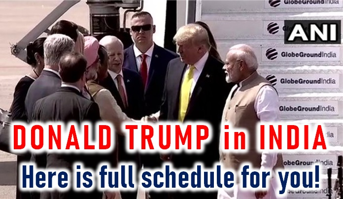 Us President Donald Trump In India! Here Is The Schedule