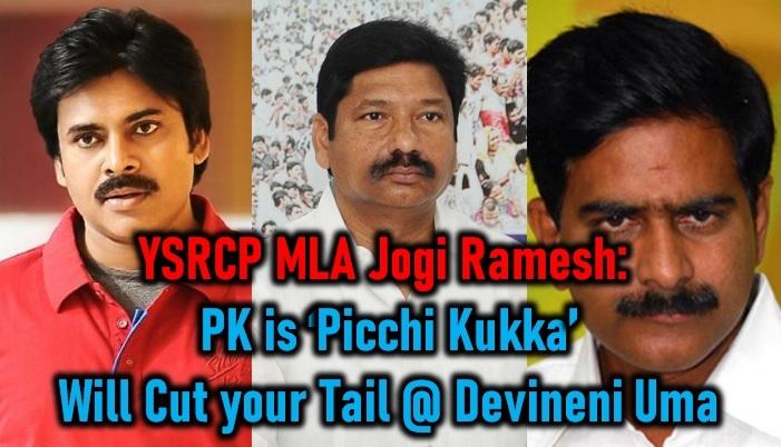 Ysrcp Mla Jogi Ramesh Warns Devineni Uma! Calls Pawan 'picchi Kukka' - Telugu Uma Latest Comments Kalyan Ysrcp On Mla